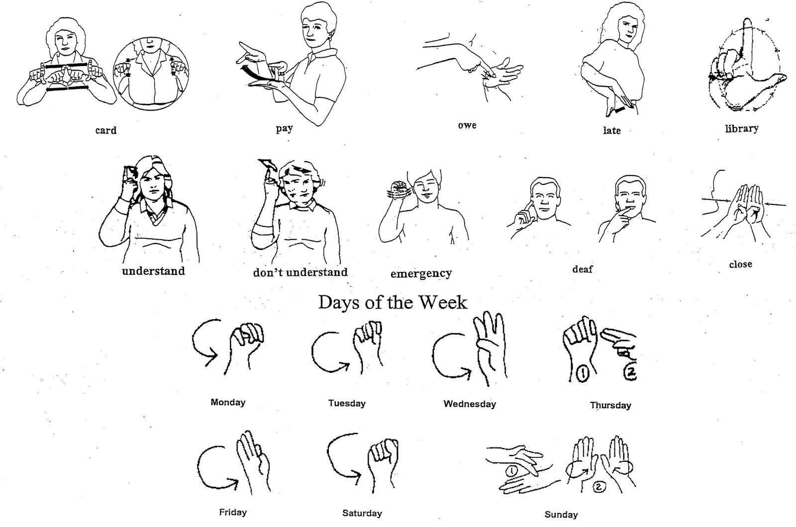 Sign Language Poster Printable 7 Best Of Printable asl Signs asl Sign Language