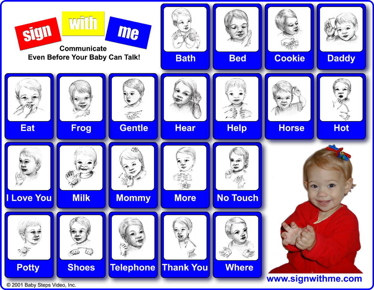 Sign Language Poster Printable Baby Sign Language Chart