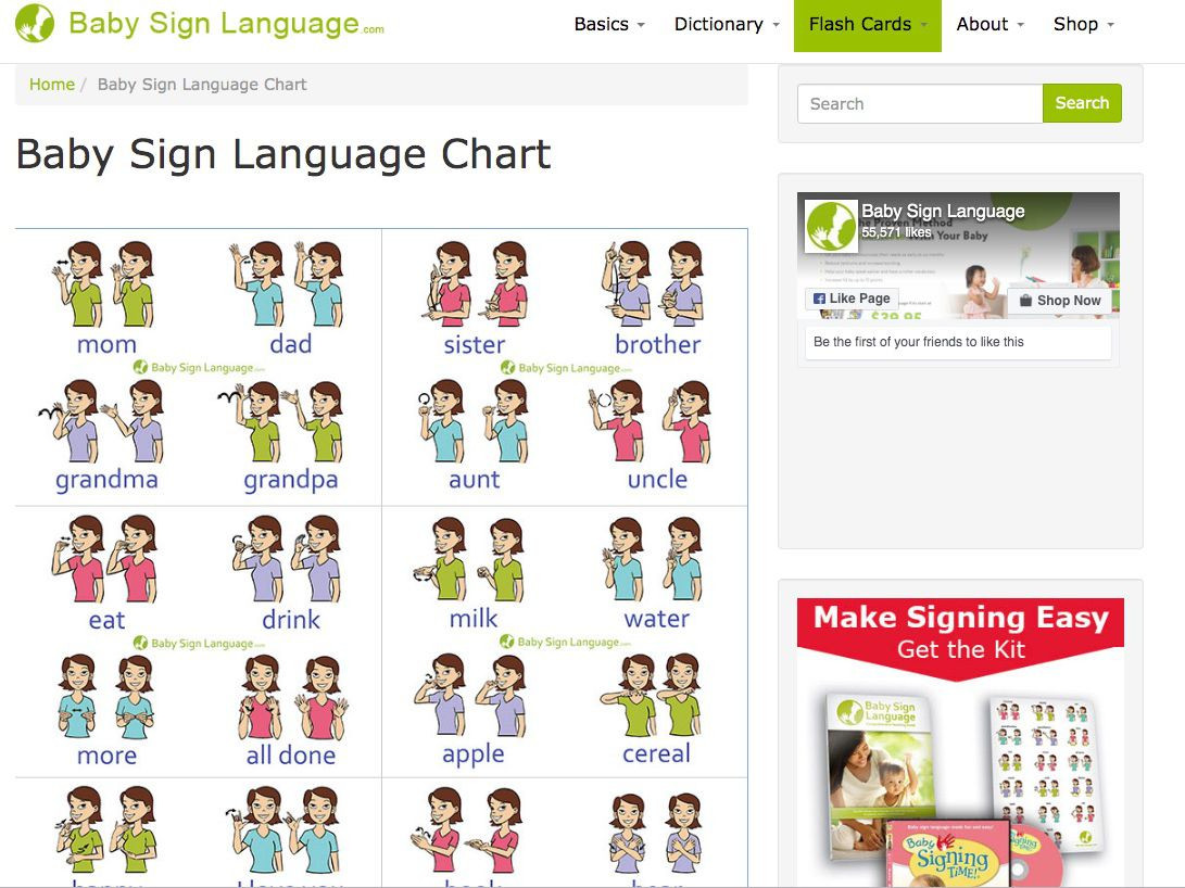 Sign Language Poster Printable Baby Sign Language Free Resources Charts Flash Cards