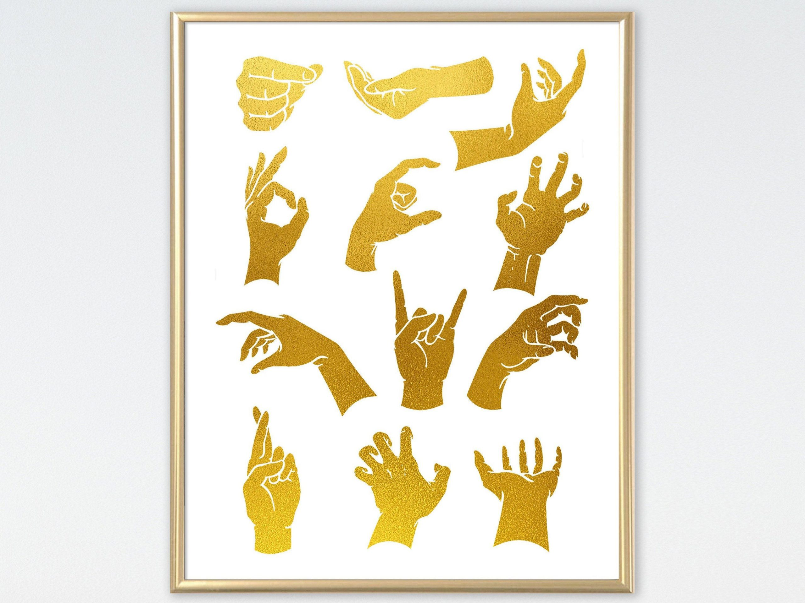 Sign Language Poster Printable Hand Signs Variation Gestures Sign Language Poster asl