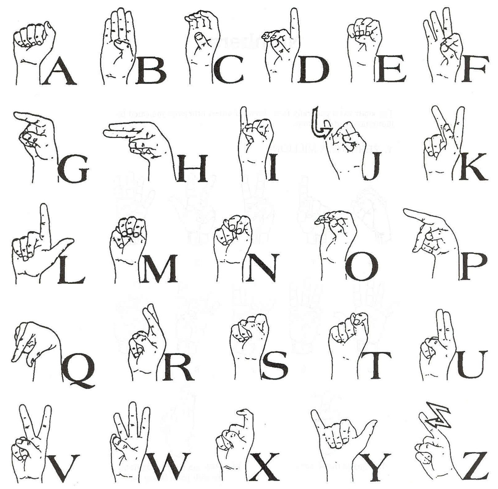 Sign Language Printable Worksheets Sign Language Words Worksheet