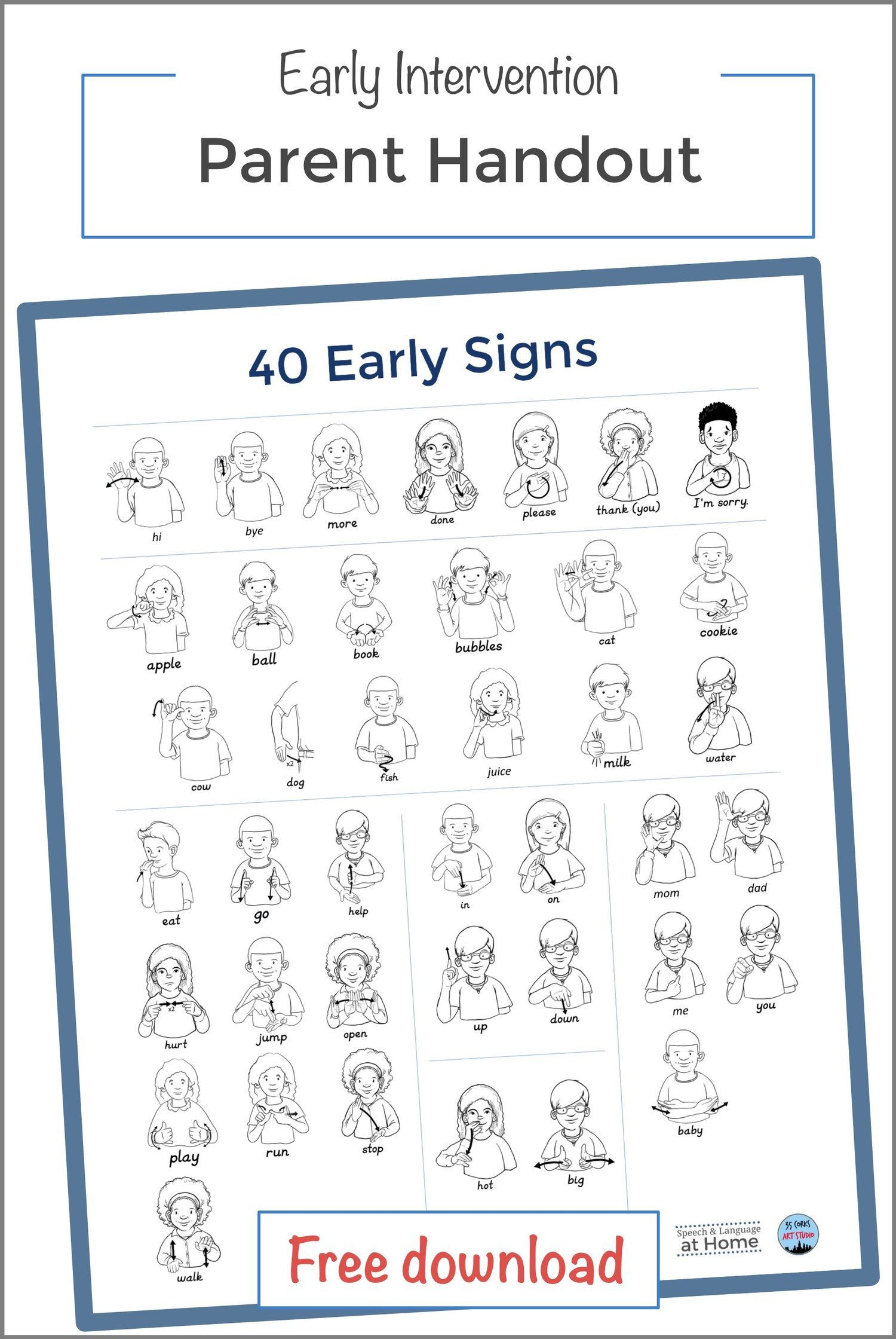 Sign Language Printable Worksheets Worksheet Sign Language toddlers