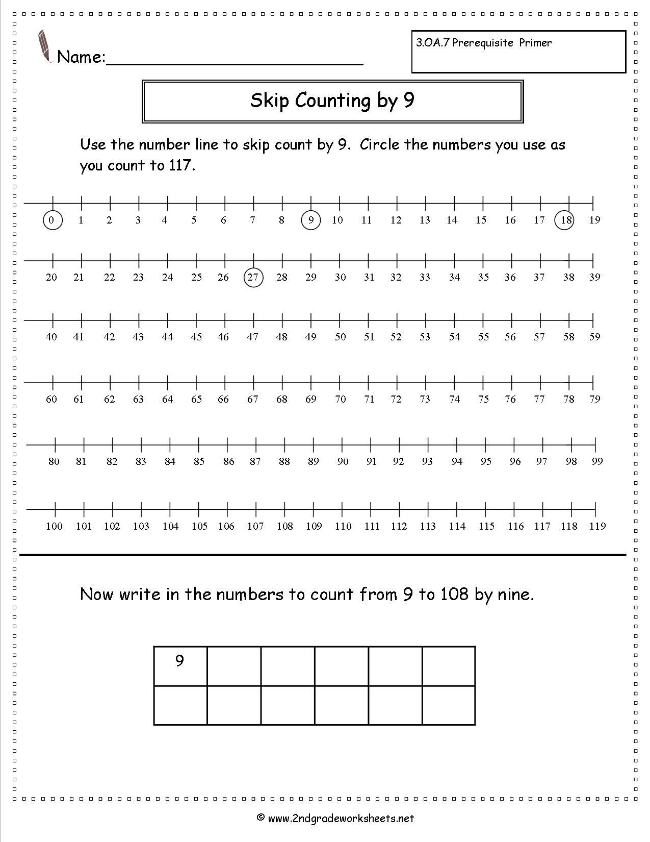 Skip Counting Worksheets 2nd Grade Free Skip Counting Worksheets Multiple Styles All Single