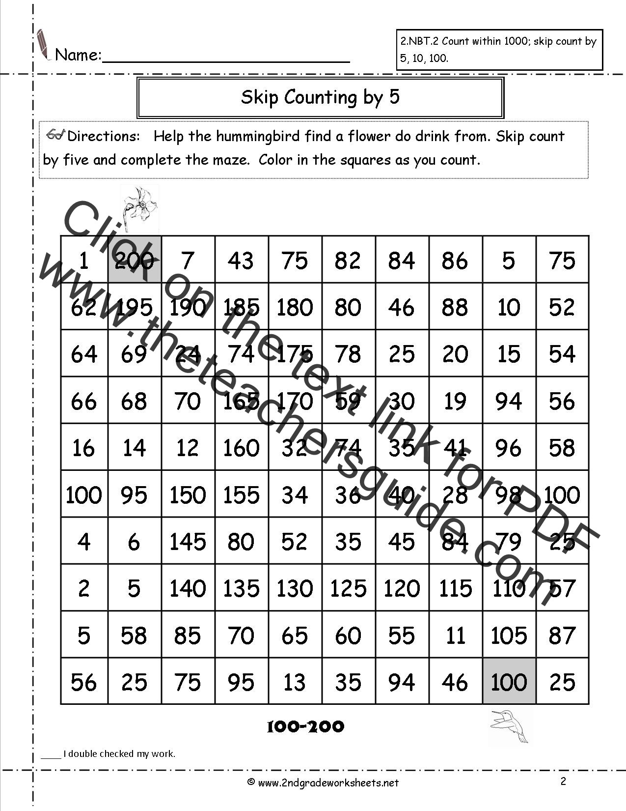Skip Counting Worksheets 2nd Grade Skip Counting Patterns Worksheet