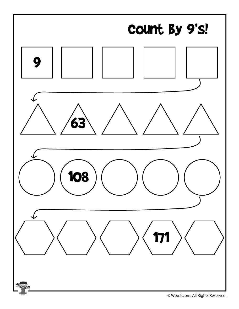 Skip Counting Worksheets First Grade Simple Skip Counting Worksheets to Print