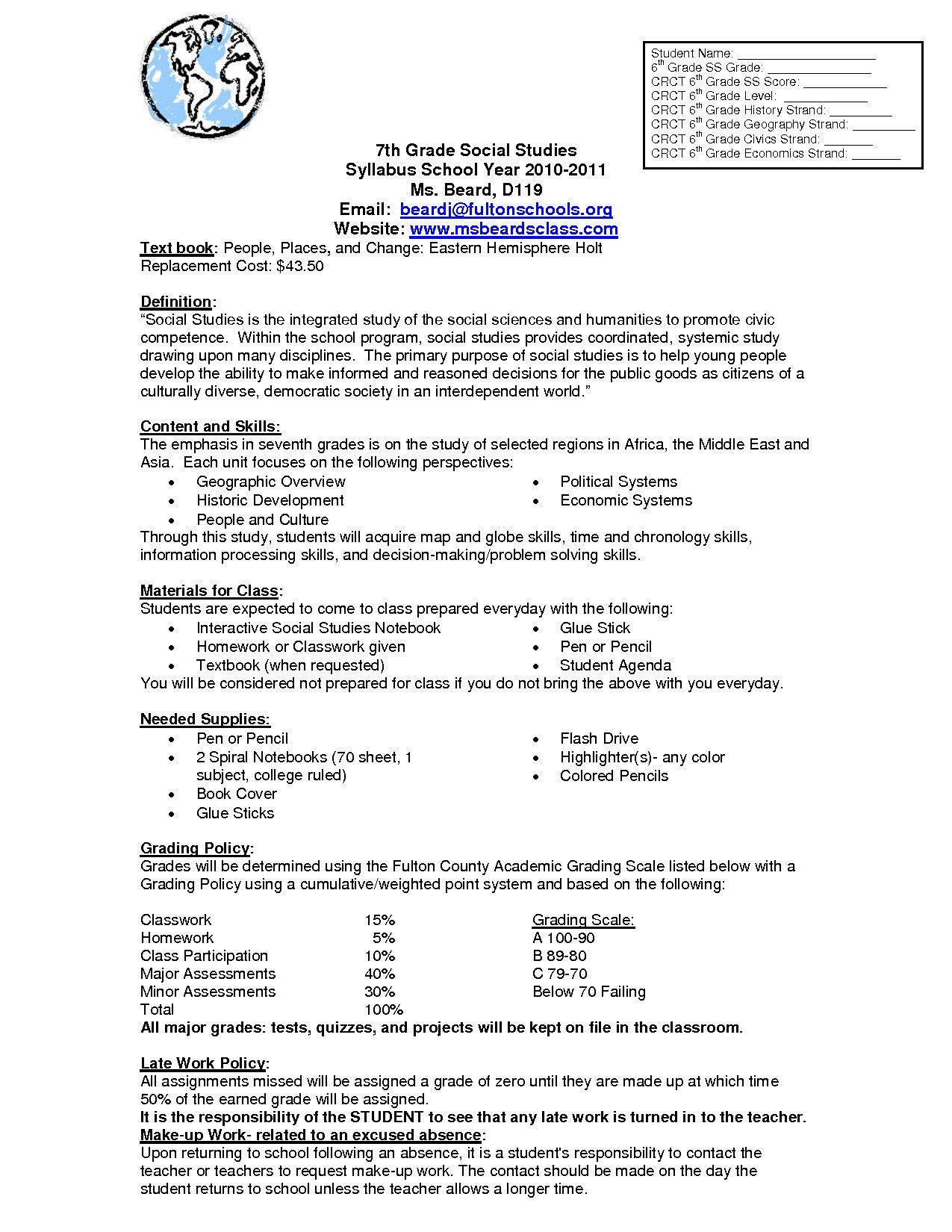 Social Studies Worksheets 7th Grade Pin On Grade Main Idea Worksheets