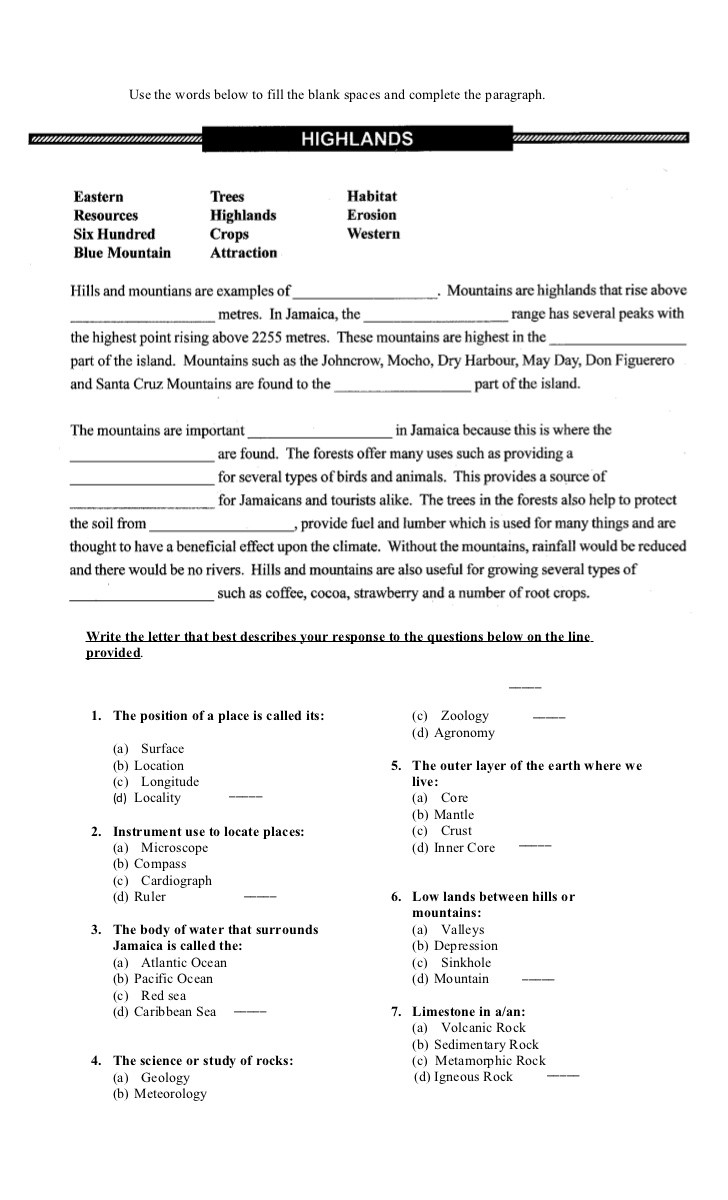 Social Studies Worksheets 8th Grade Grade 8 E Test