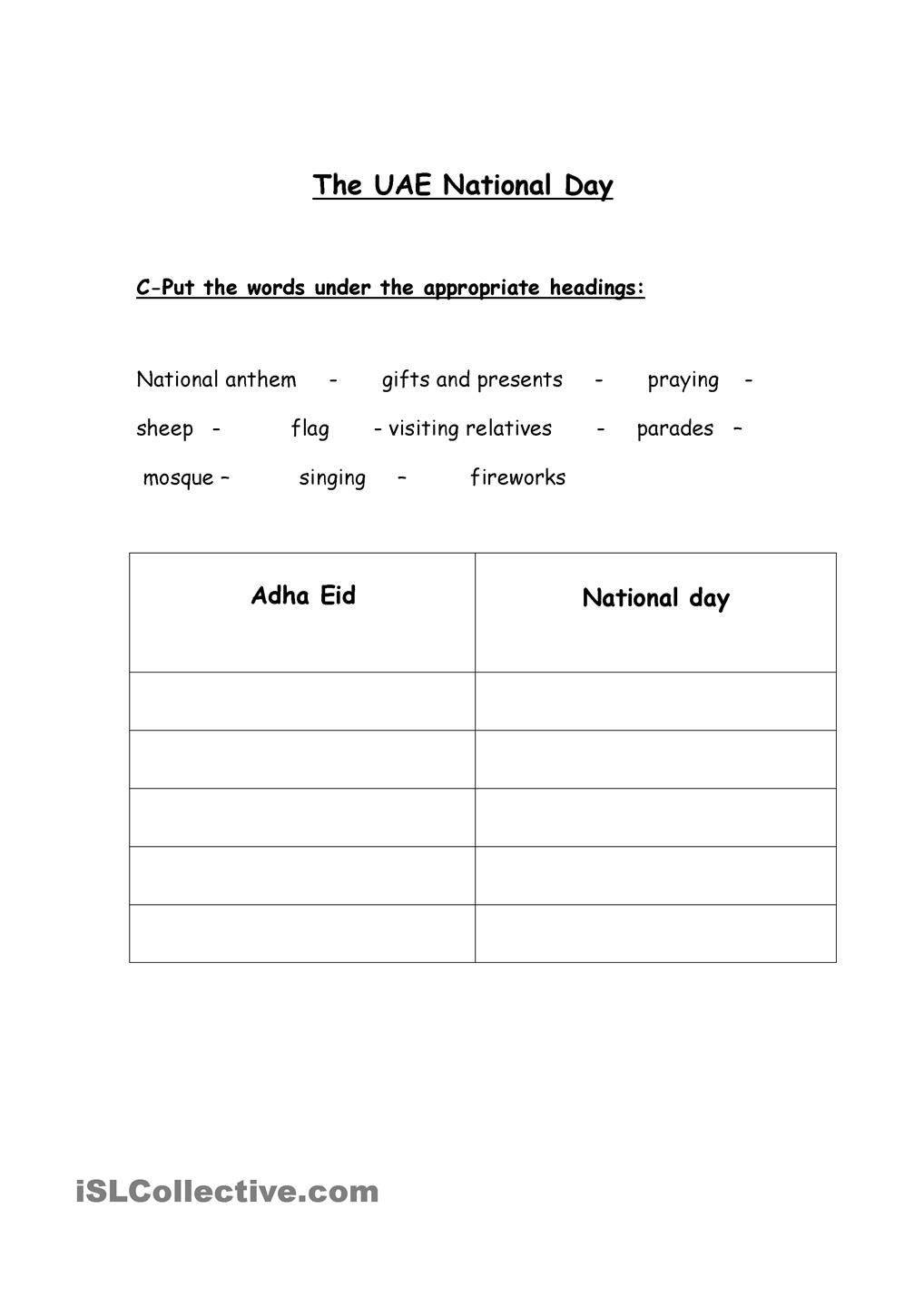 Social Studies Worksheets 8th Grade Uae National Day