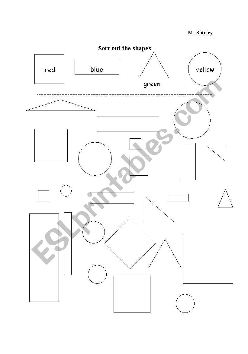 Sorting Shapes Worksheets First Grade English Worksheets sorting Flat Shapes