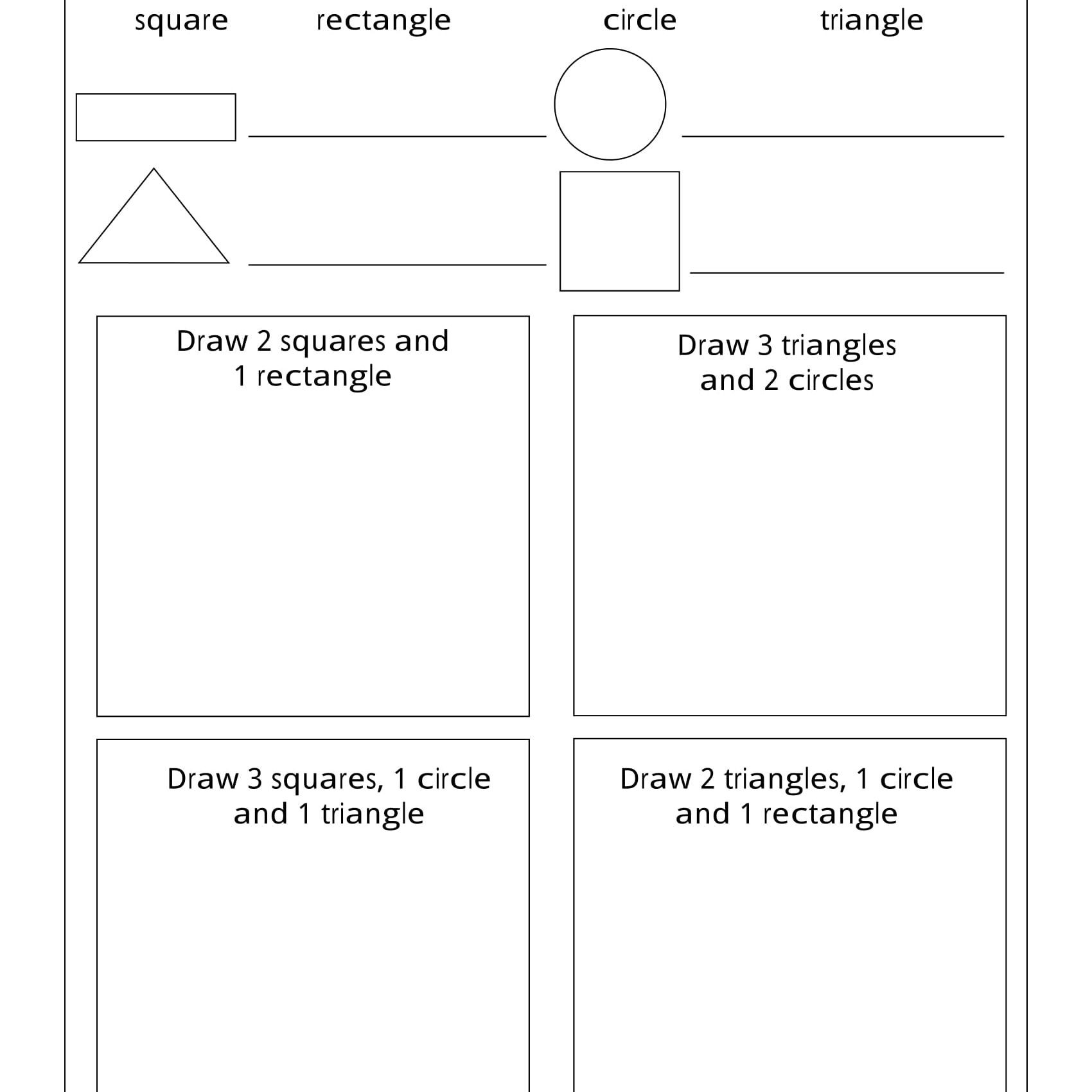 Sorting Shapes Worksheets First Grade Geometry Worksheets for Students In 1st Grade