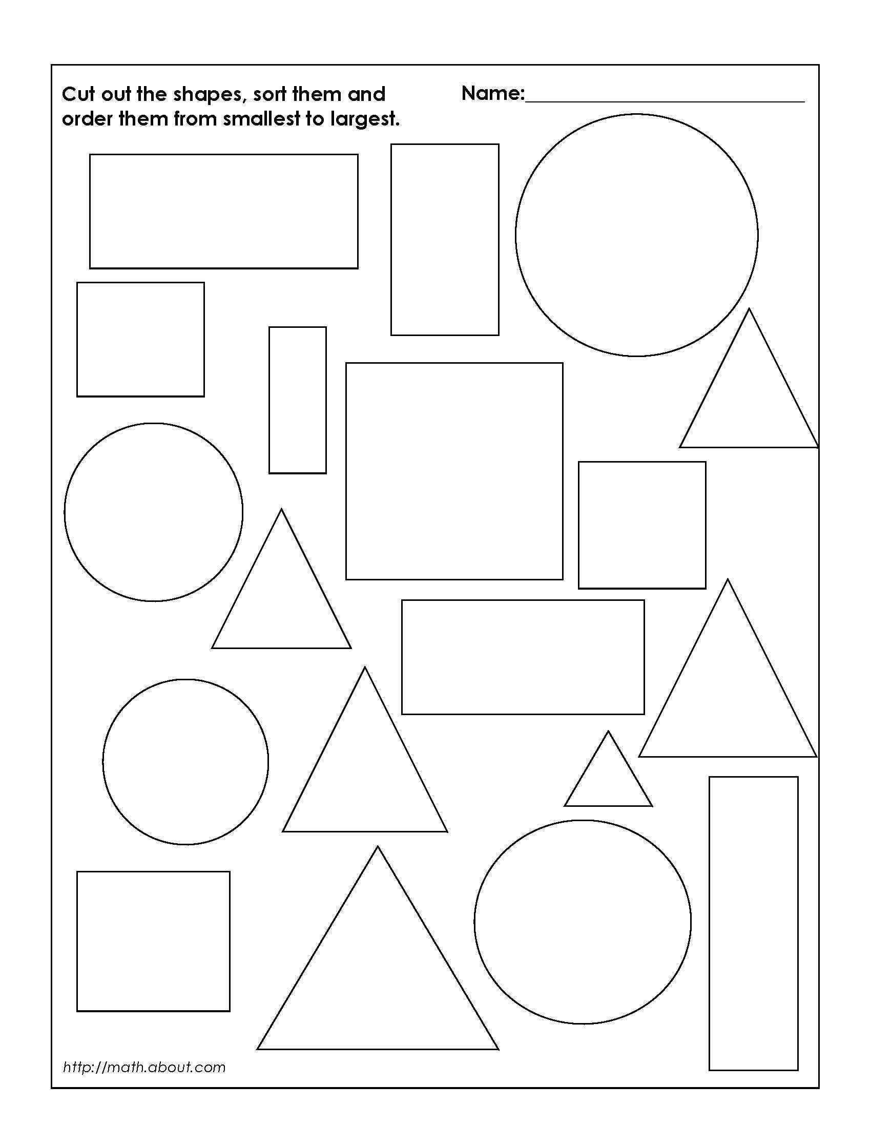 Sorting Shapes Worksheets First Grade Worksheet 6