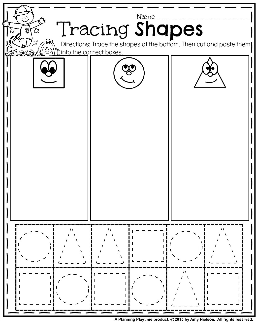 Sorting Shapes Worksheets First Grade Worksheet Lesson Plan for Elementary Grade Christmas