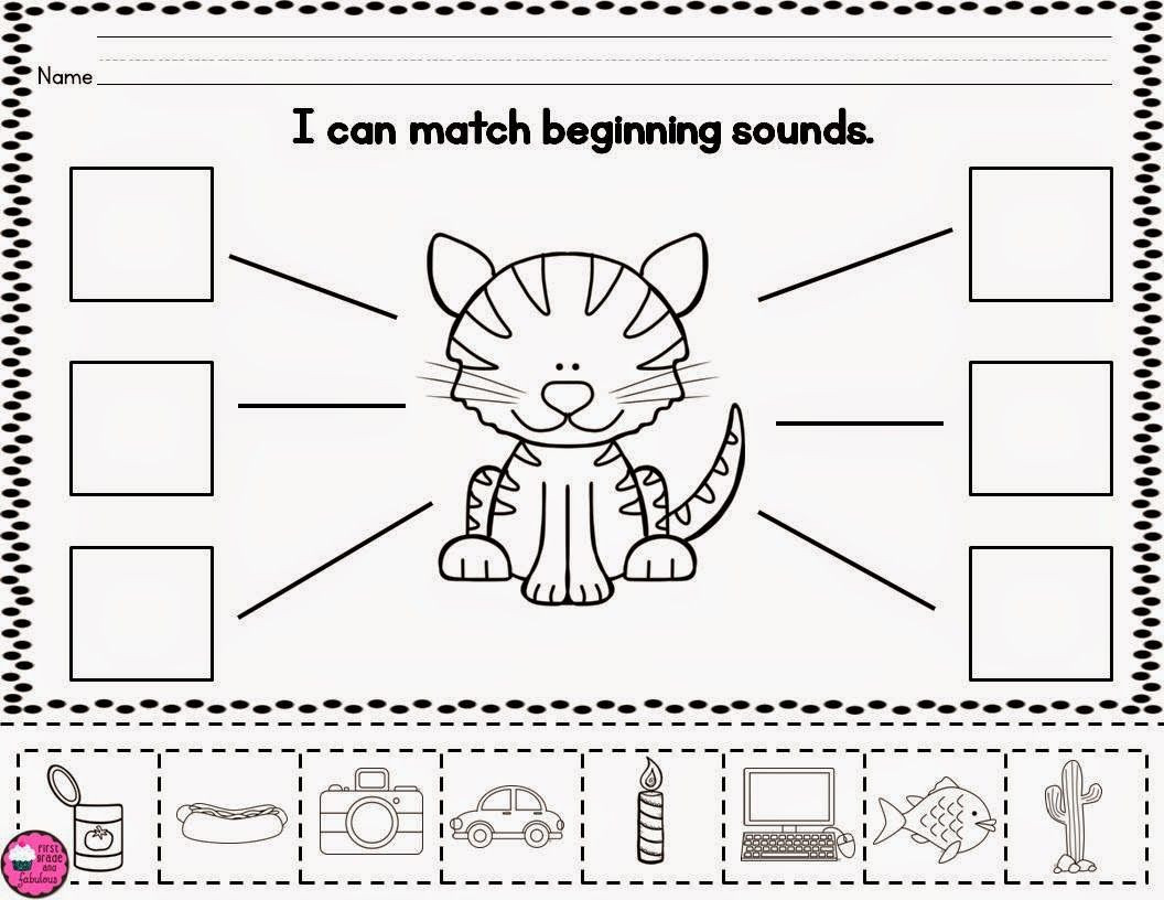 Sorting Worksheets for First Grade Freebie Beginning sound sort Worksheet