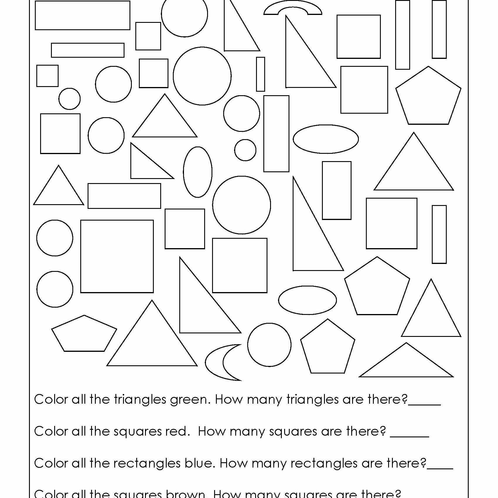 Sorting Worksheets for First Grade Geometry Worksheets for Students In 1st Grade