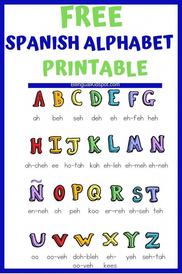 Spanish Alphabet Chart Printable Teach Kids Spanish A Guide for Parents Includes A Free