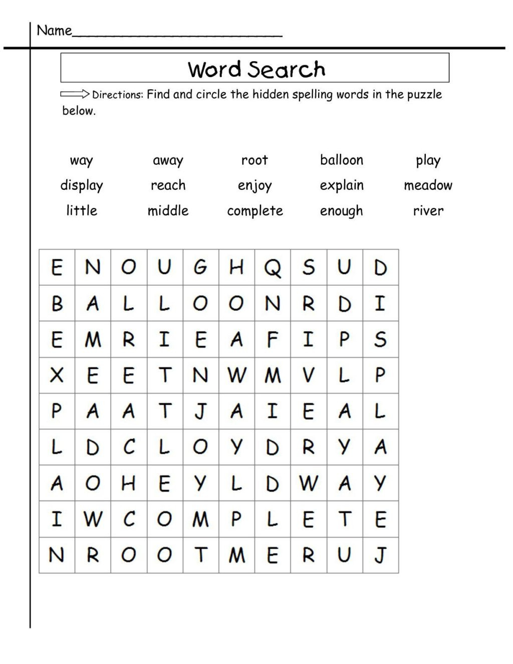 Spelling Worksheets 2nd Graders Worksheet Worksheet 2nd Grade Word Search Sight Worksheets