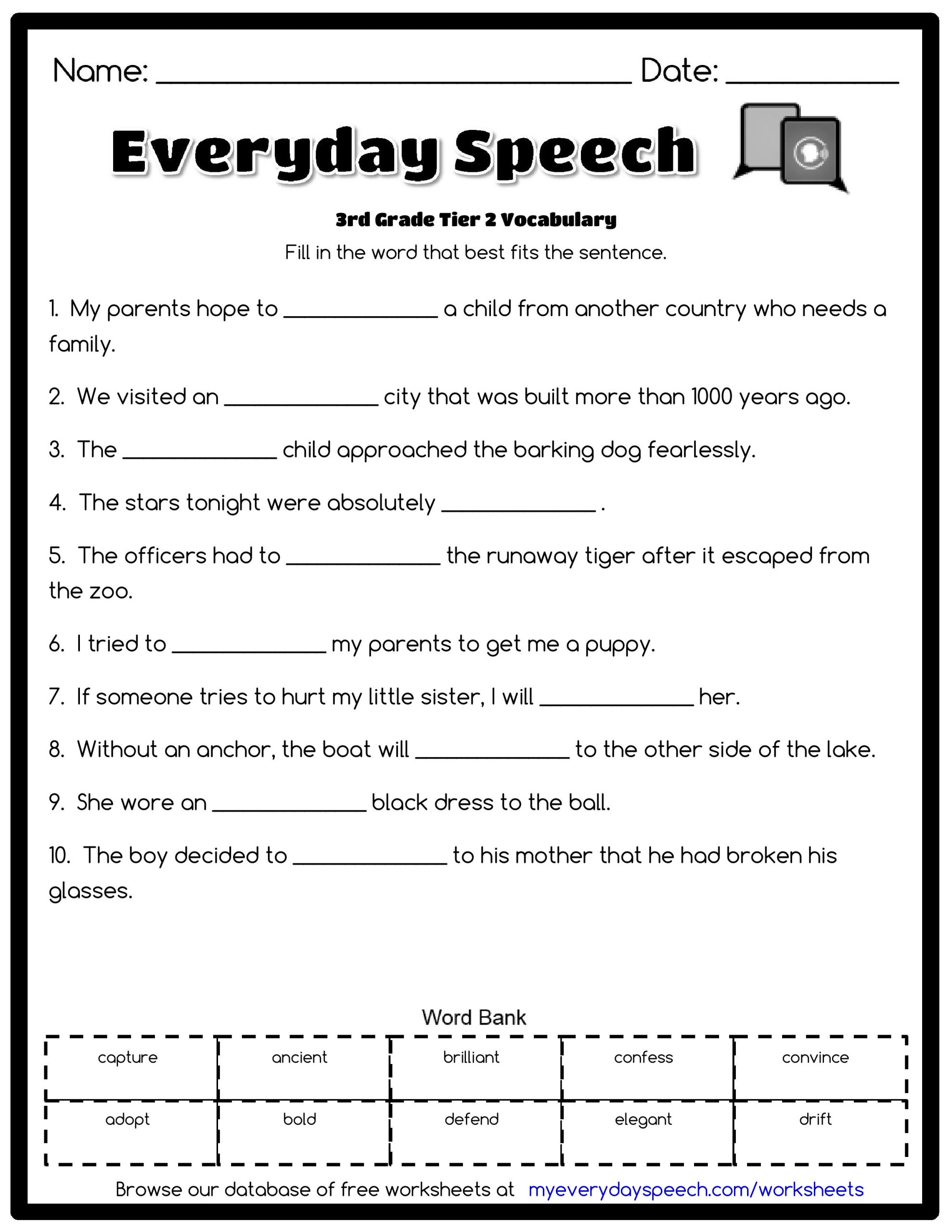 Spelling Worksheets 3rd Grade 3rd Grade Vocabulary Worksheets for Download 3rd Grade