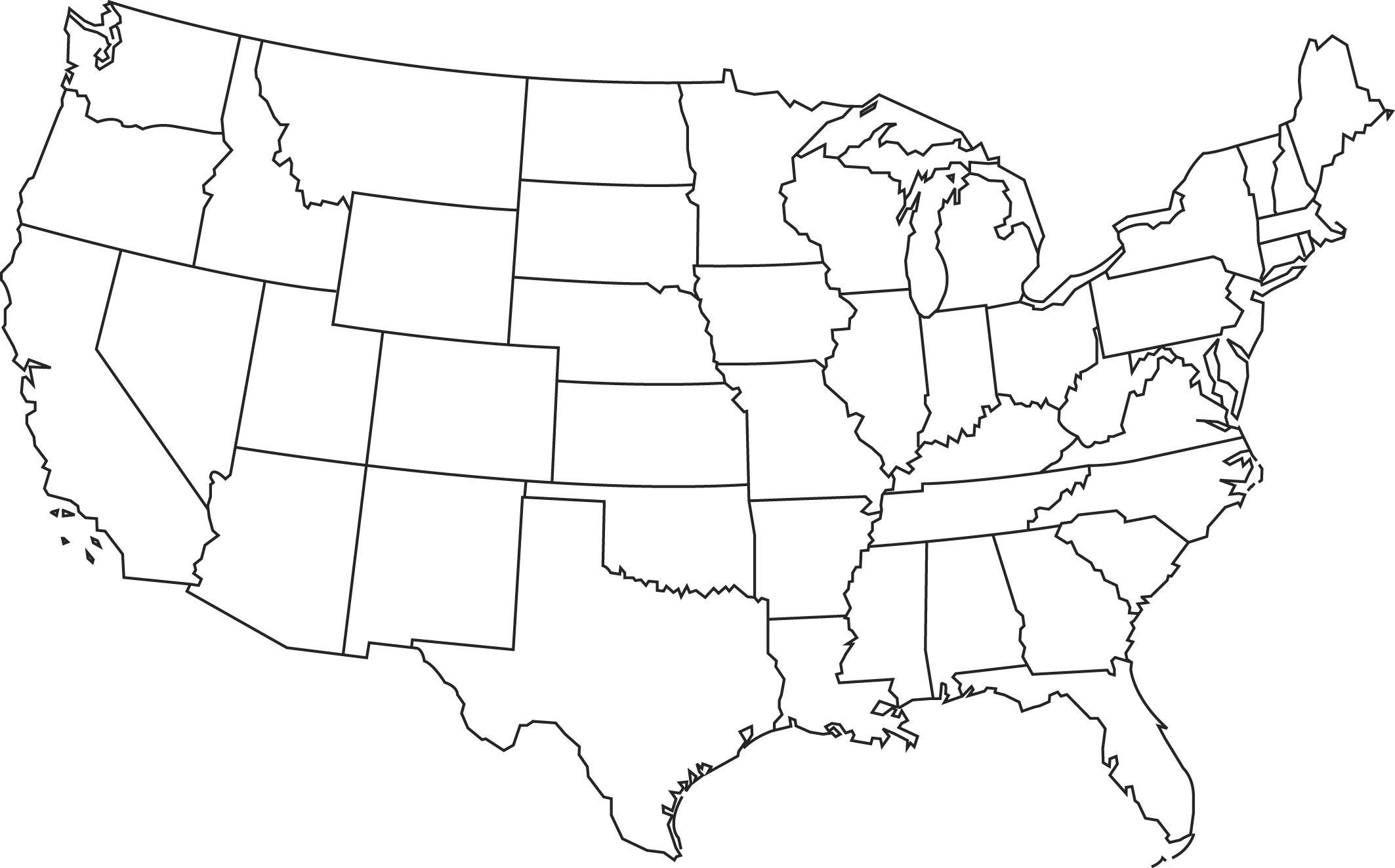 State Quiz Printable Blank Map Of the States Quiz Google Search In 2020