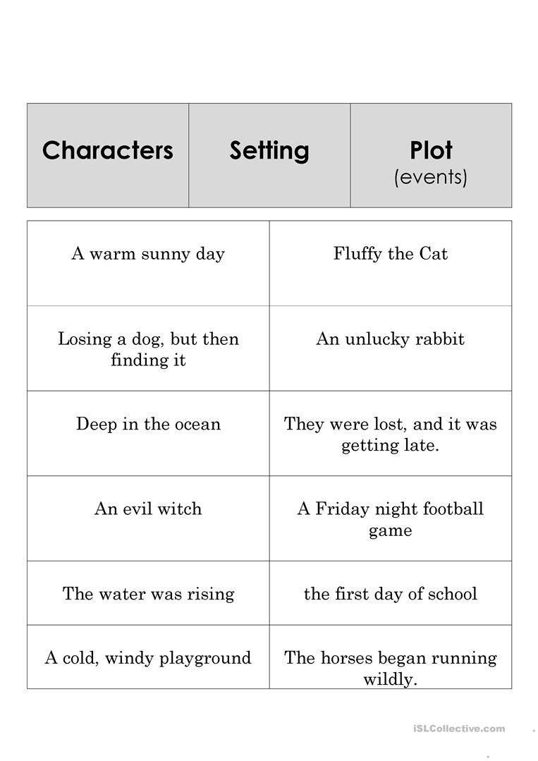 Story Elements Worksheet 5th Grade Worksheets Story Elements