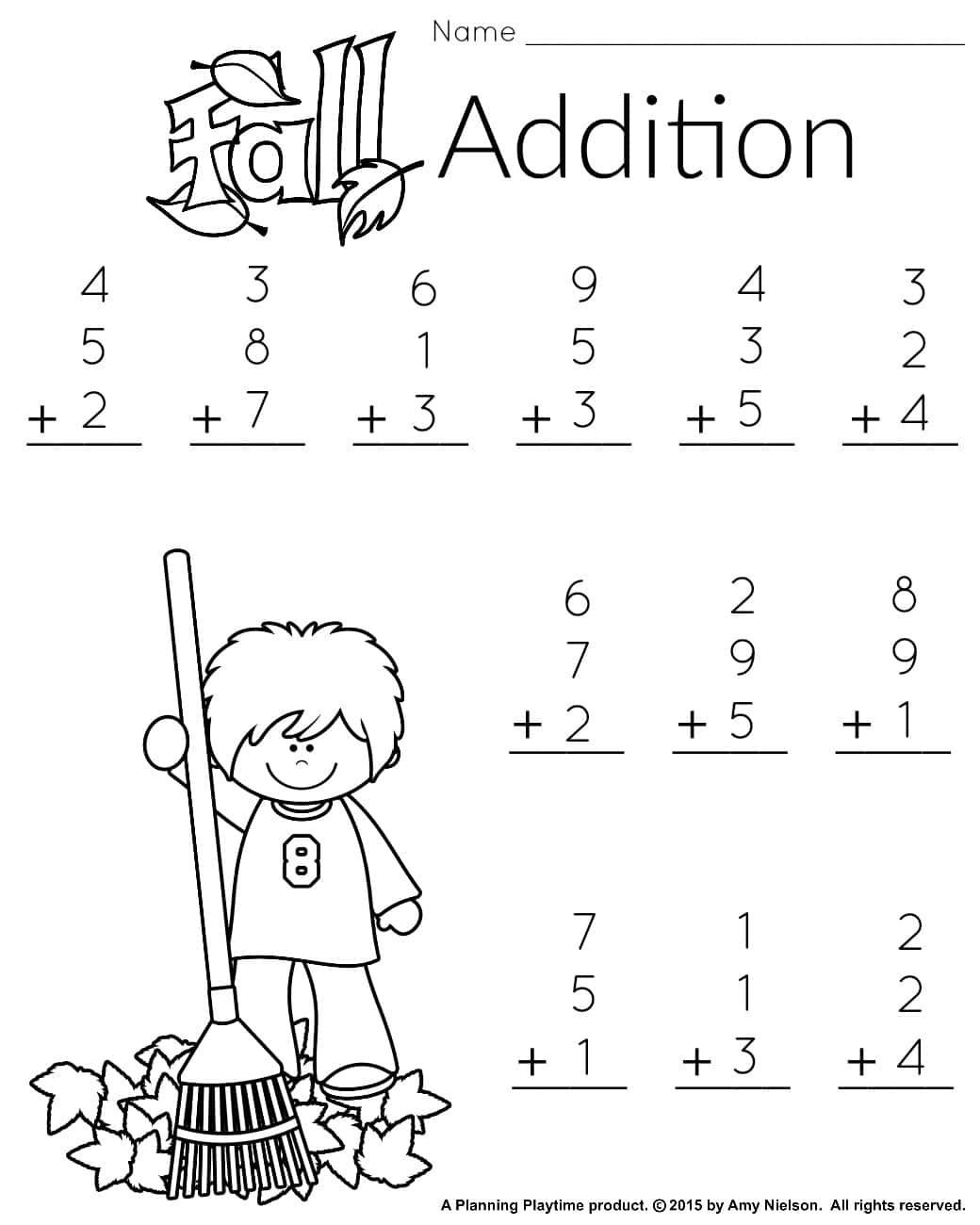 Subtraction Worksheet for 1st Grade 1st Grade Math and Literacy Worksheets with Freebie First