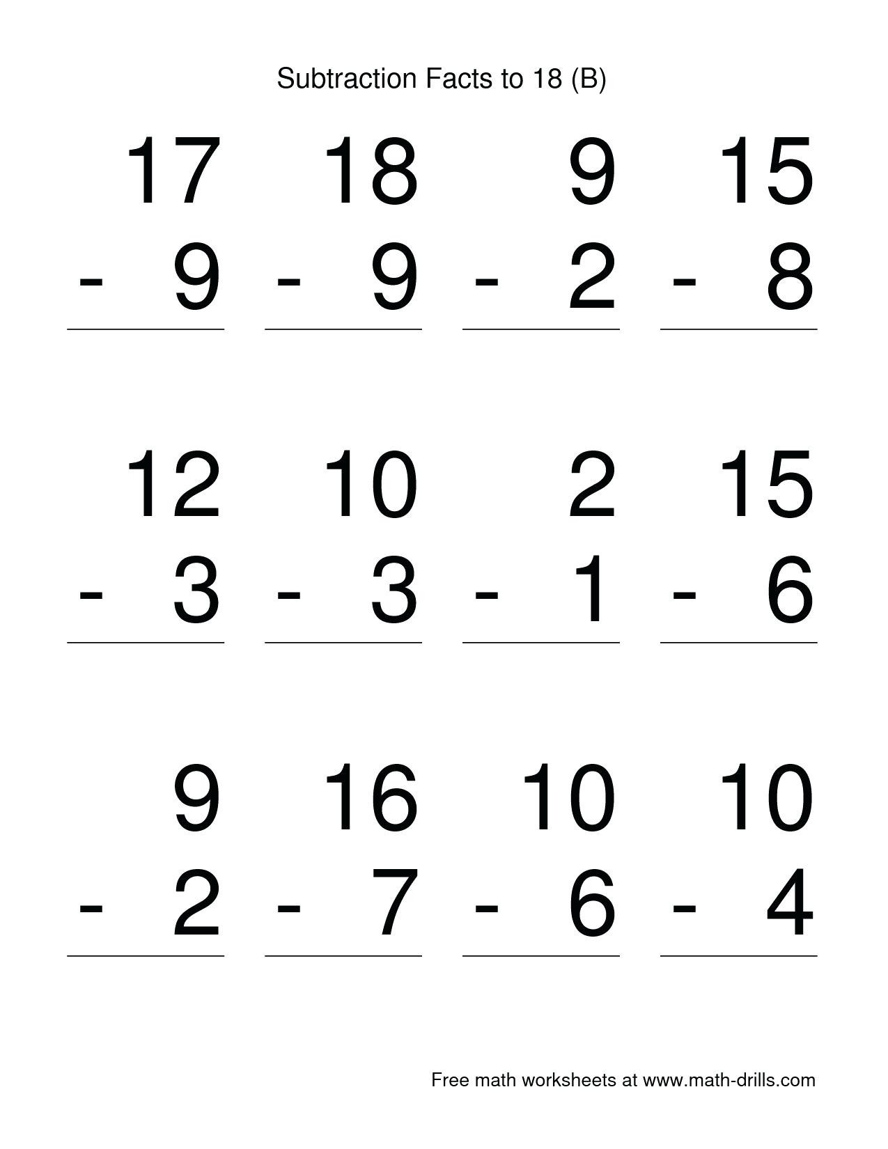 Subtraction Worksheet for 1st Grade 5 Free Math Worksheets First Grade 1 Word Problems