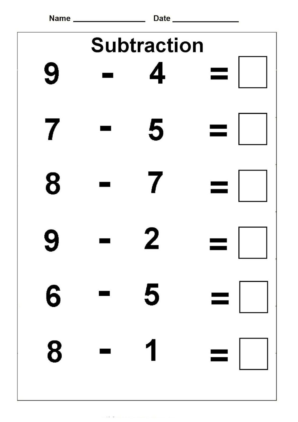 Subtraction Worksheets 1st Grade Worksheet 1st Grade Math Worksheets Free Worksheet