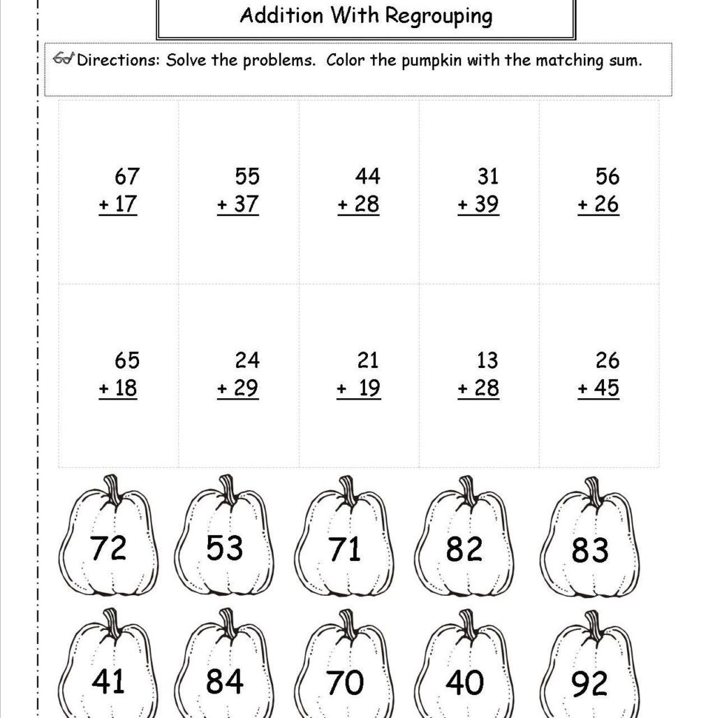 Subtraction Worksheets 1st Grade Worksheet Digit Subtraction without Regrouping Coloring