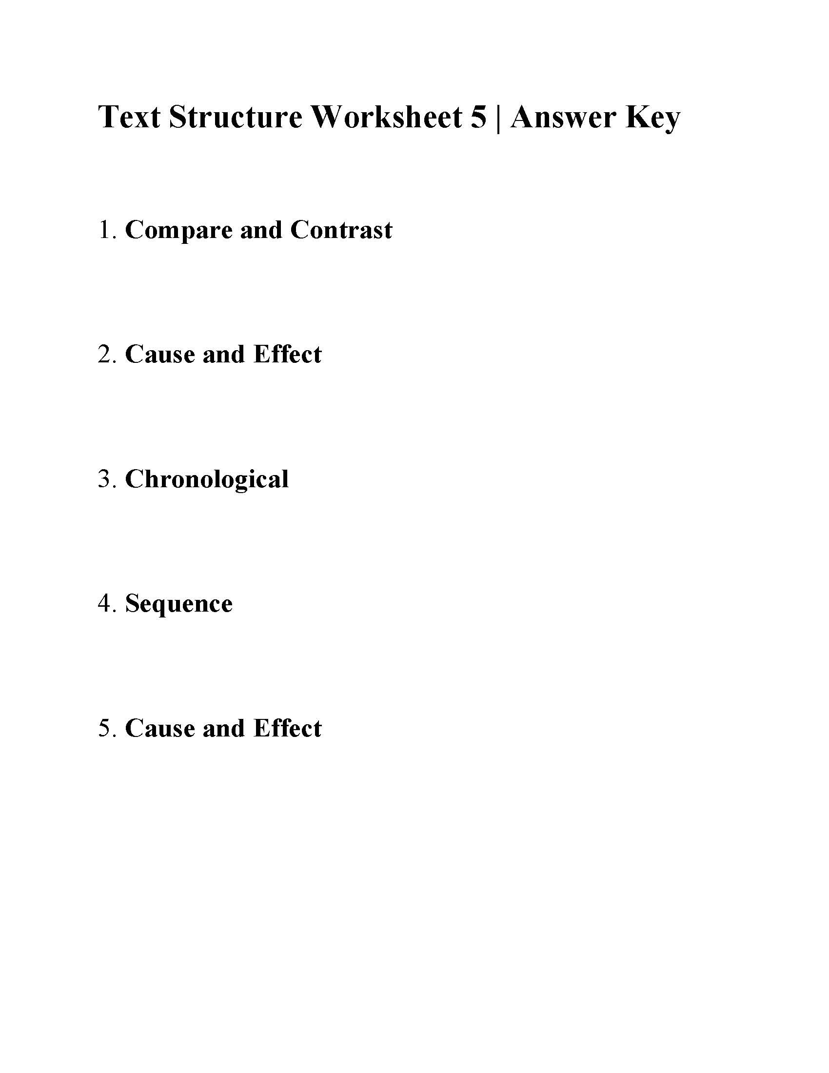 Text Structure Worksheets Grade 4 Text Structure Worksheet 5