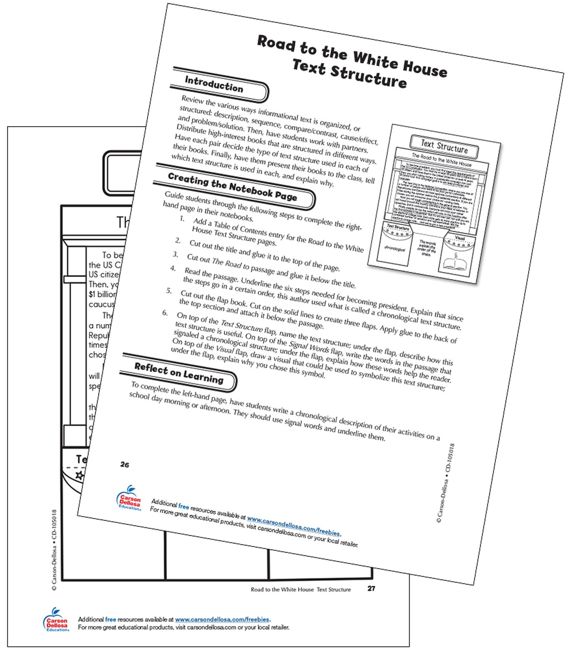 Text Structure Worksheets Grade 4 the Road to the White House Text Structure Grade 5