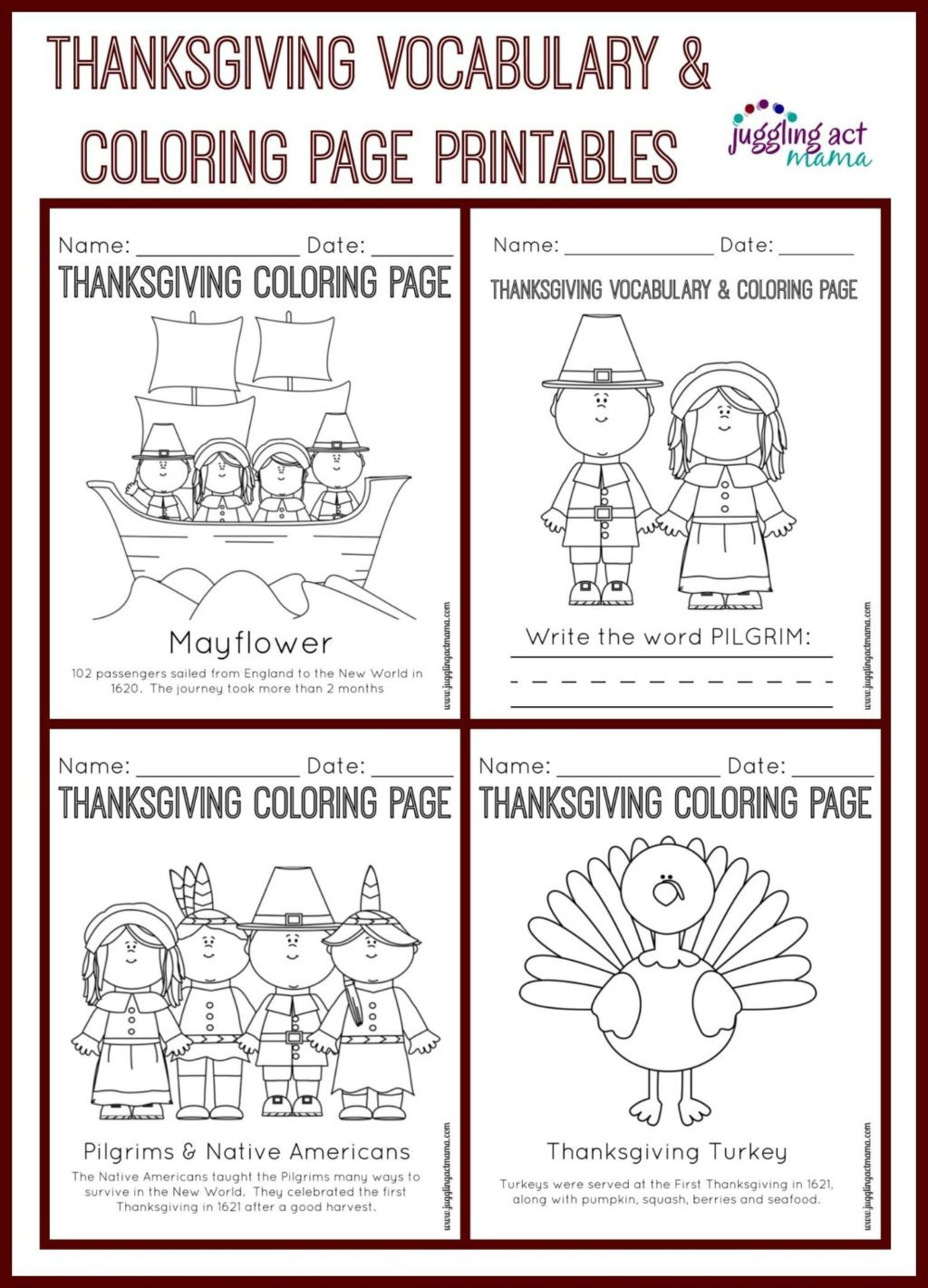 Thanksgiving Math Worksheets 5th Grade Worksheet Thanksgivingtivity Pages Coloring Page Collage2