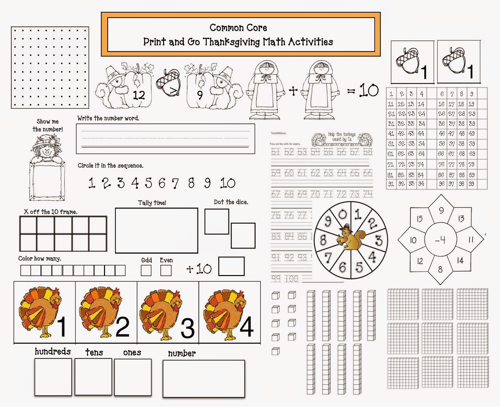 Thanksgiving Math Worksheets Middle School Mon Core Thanksgiving Math Packet Classroom Freebies