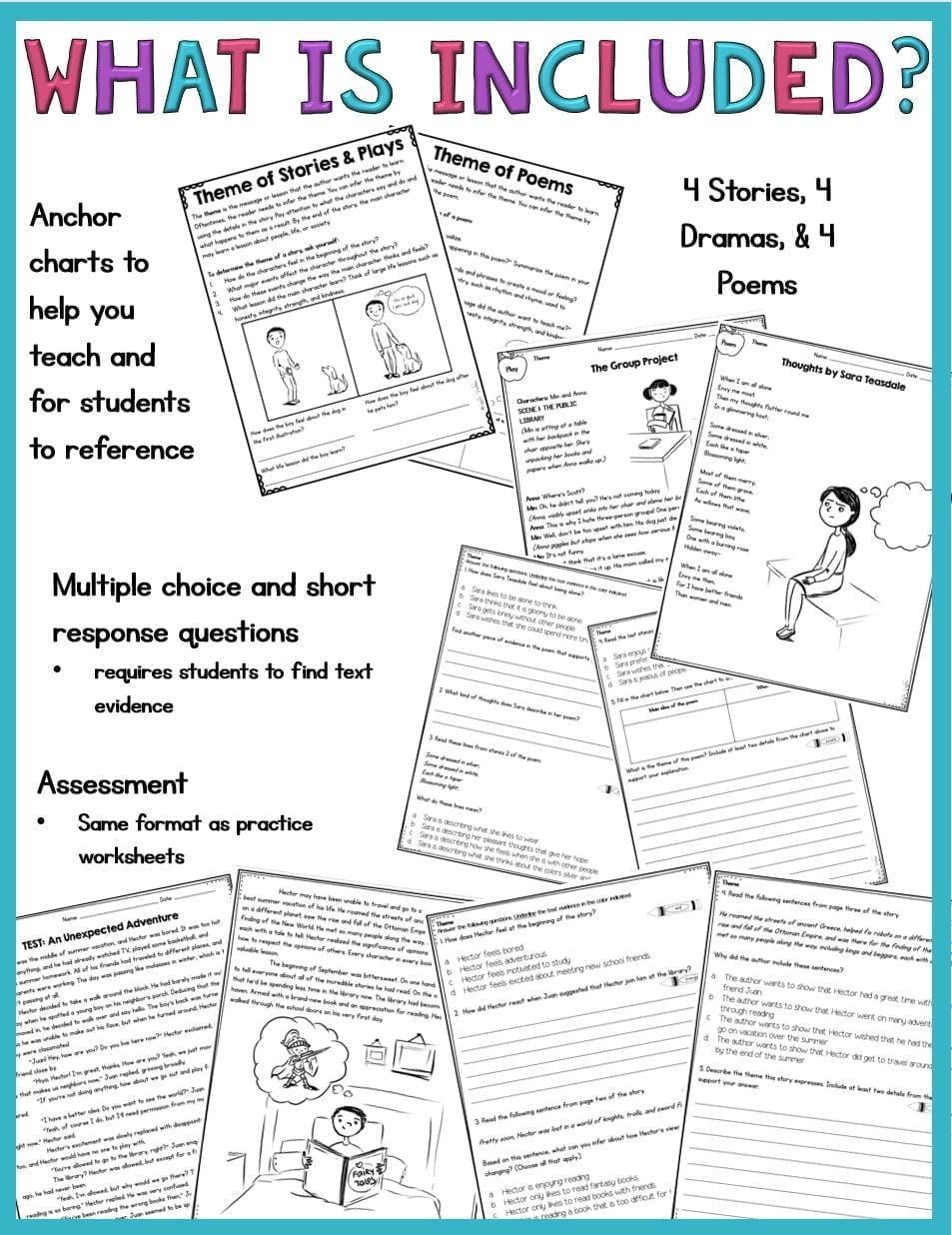 Theme Worksheets for 5th Grade Pin On Educational Worksheets Template