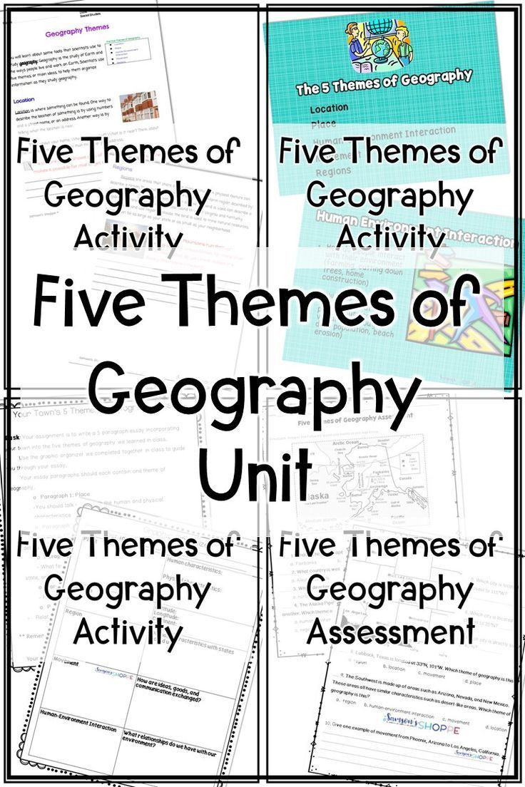 Theme Worksheets Grade 5 Five themes Of Geography Unit