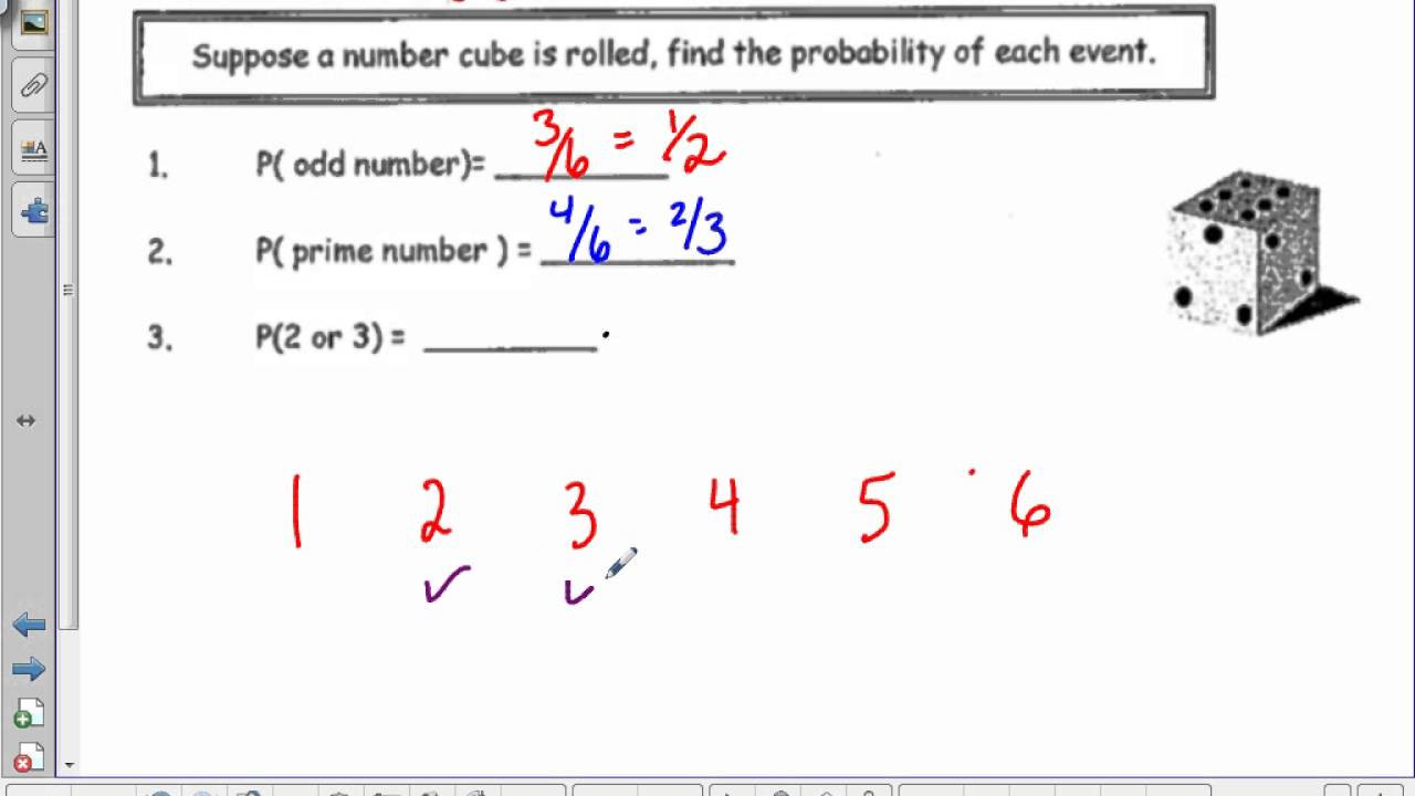 Theoretical Probability Worksheets 7th Grade Math 8 Probability theoretical and Experimental