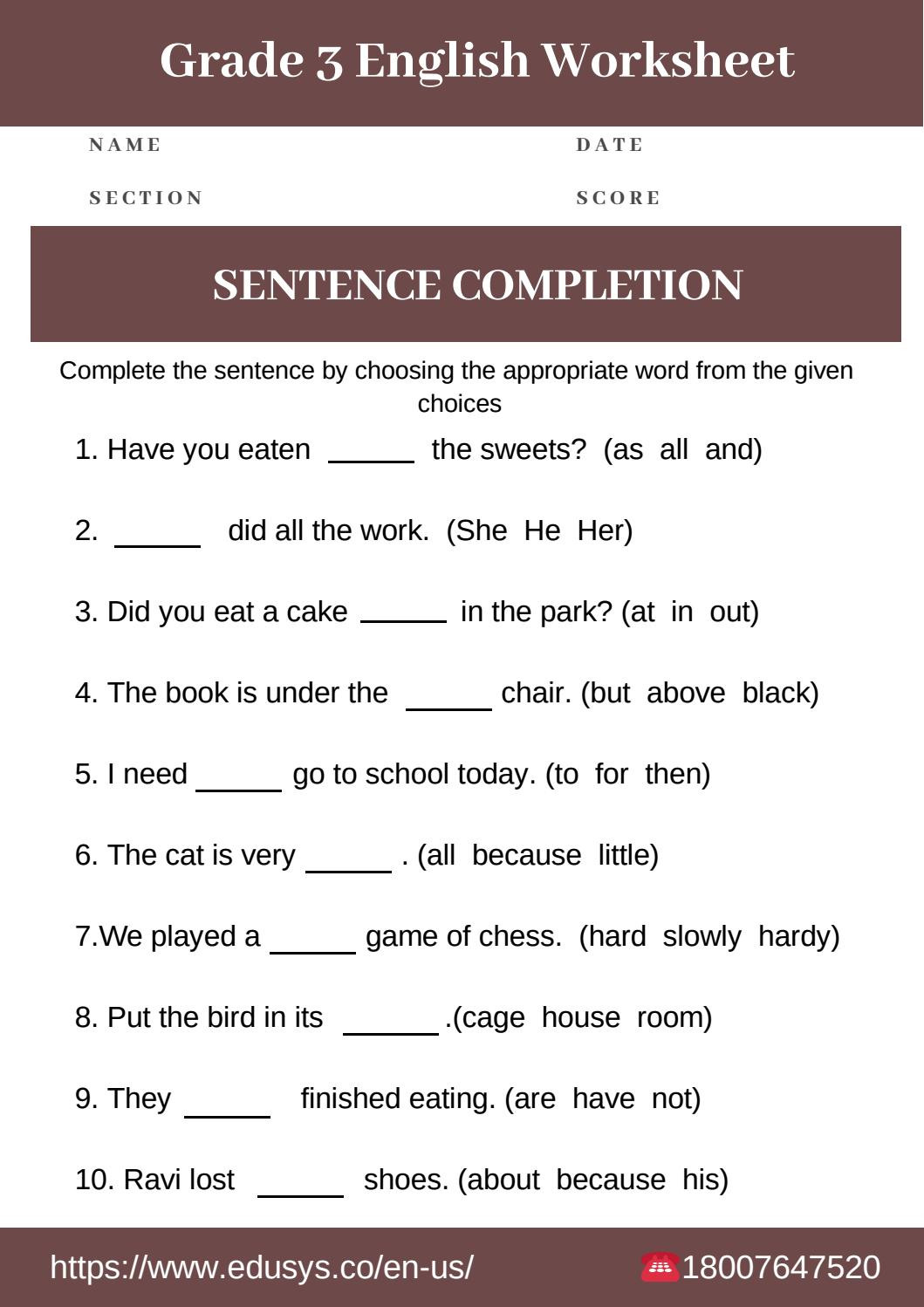 Third Grade Grammar Worksheets 3rd Grade English Grammar Worksheet Free Pdf by Nithya issuu
