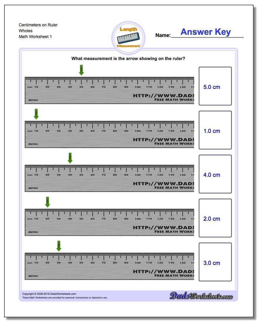 Third Grade Measurement Worksheets Metric Measurement