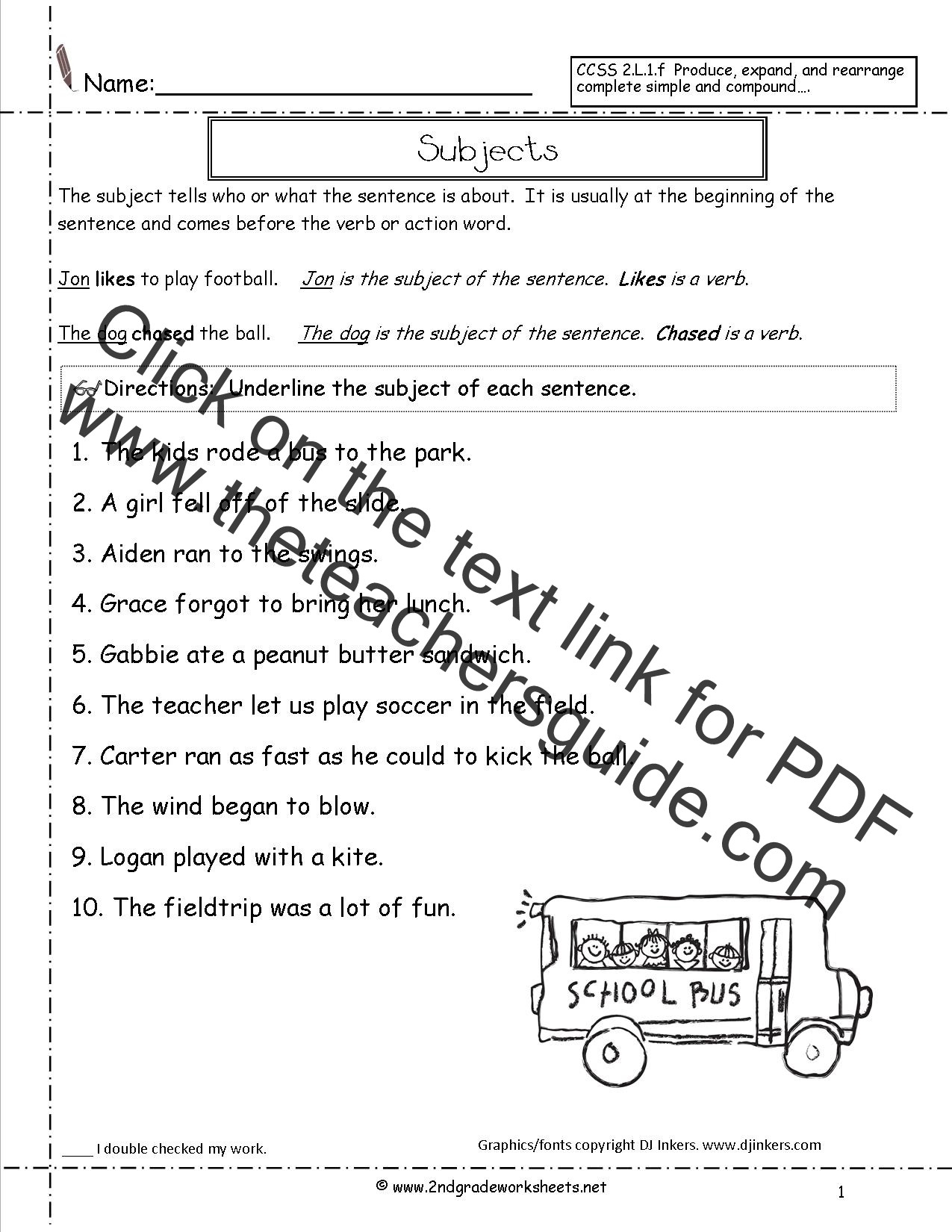 Topic Sentence Worksheets 2nd Grade Free Teacher Worksheet Pound Sentence