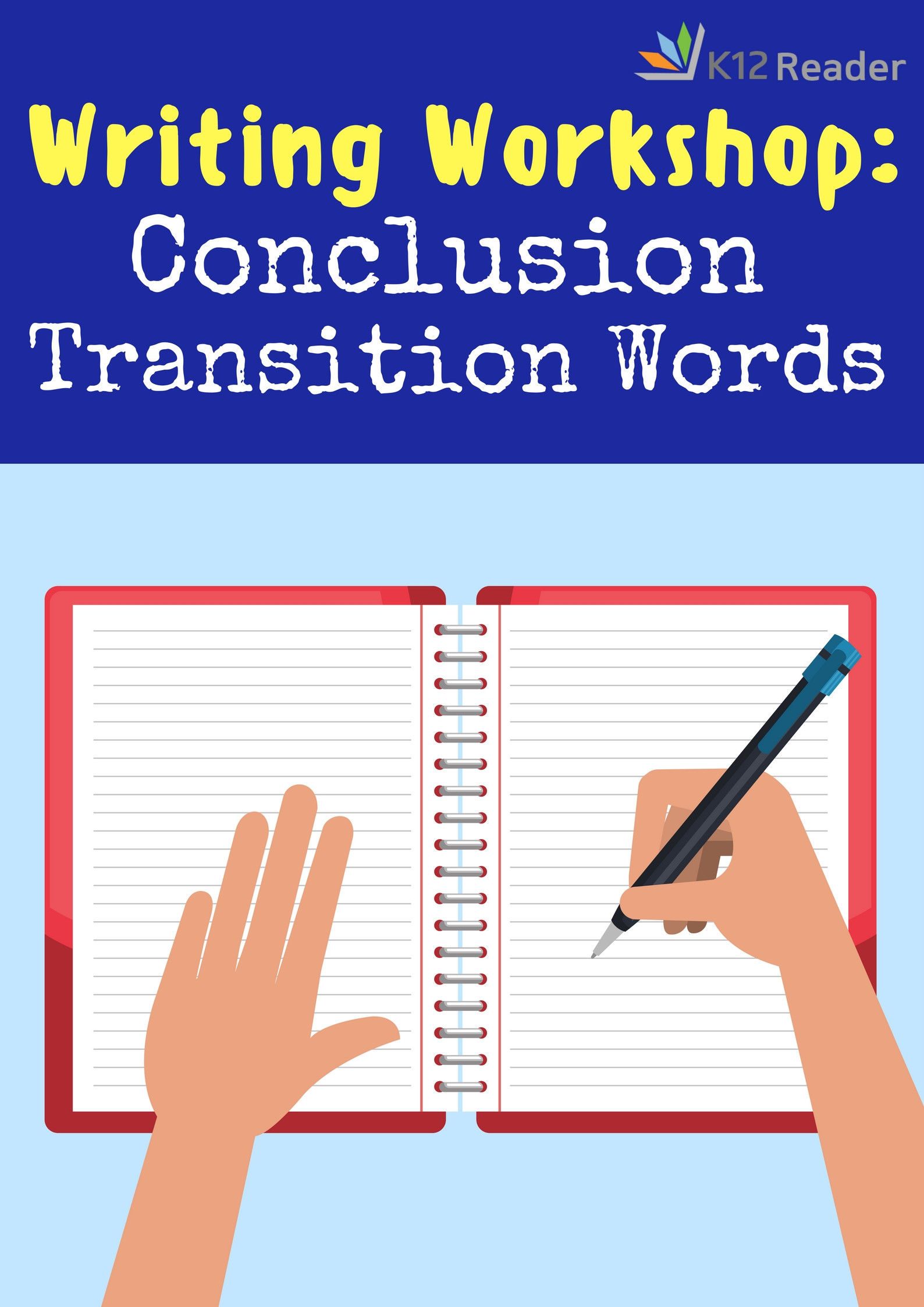 Transition Words Worksheets 4th Grade Conclusion Transition Words and Phrases K12reader