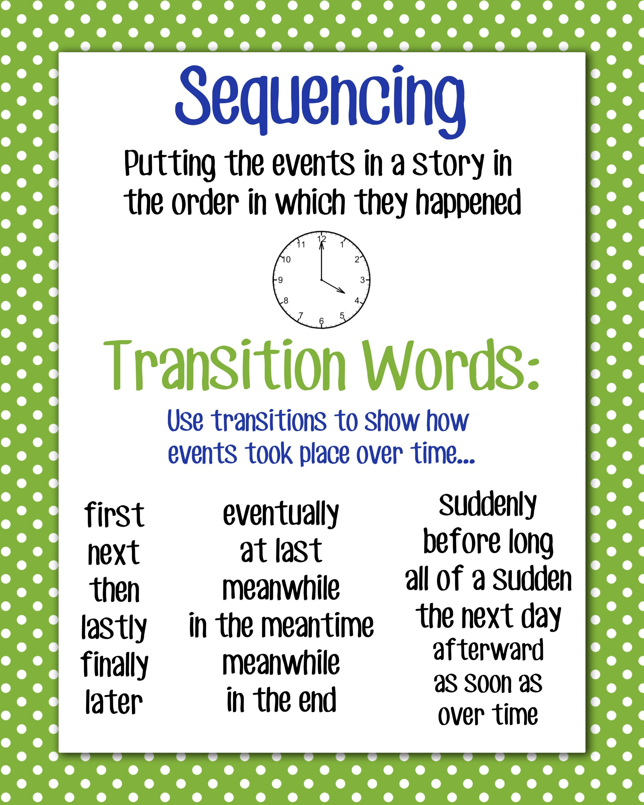 Transition Words Worksheets 4th Grade these are Great Transition Words to Use with toddler