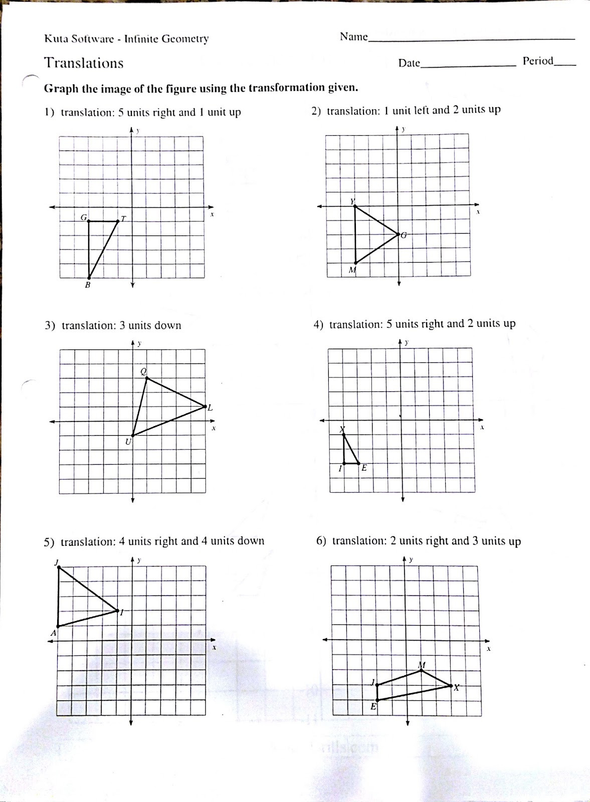 Translations Worksheets Math Rotation Worksheet Kindergarten