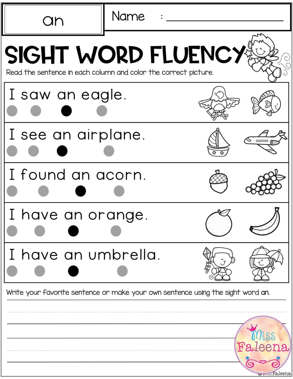 Unscramble Sentences Worksheets 1st Grade Worksheet First Grade Reading Sentences Sight Word Fluency