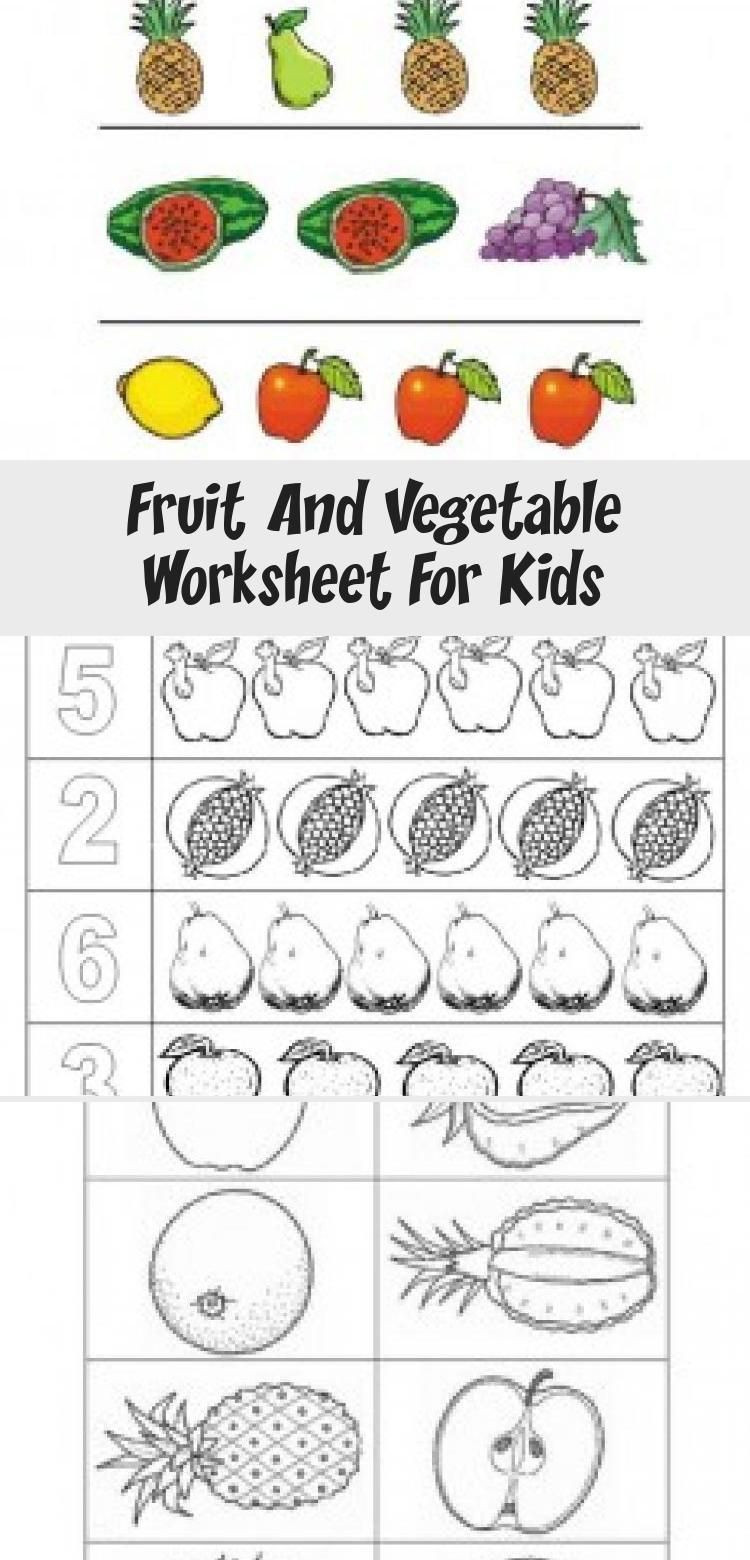 Vegetable Worksheets for Preschool Fruit and Ve Able Worksheet for Kids