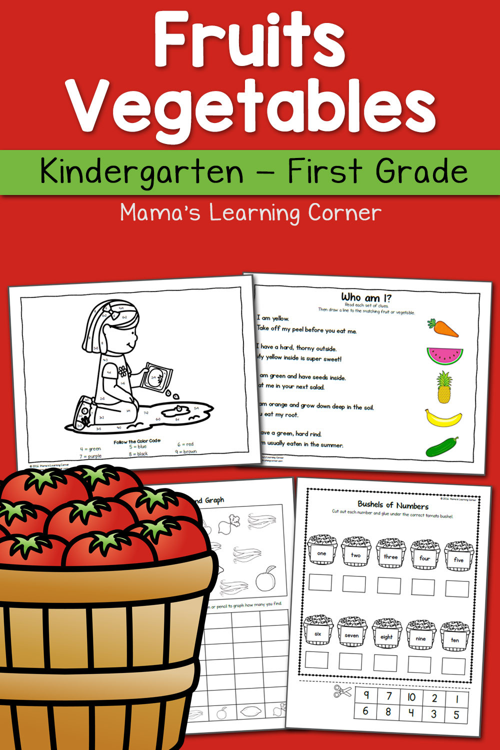 Vegetable Worksheets for Preschool Fruit and Ve Able Worksheets for Kindergarten and First