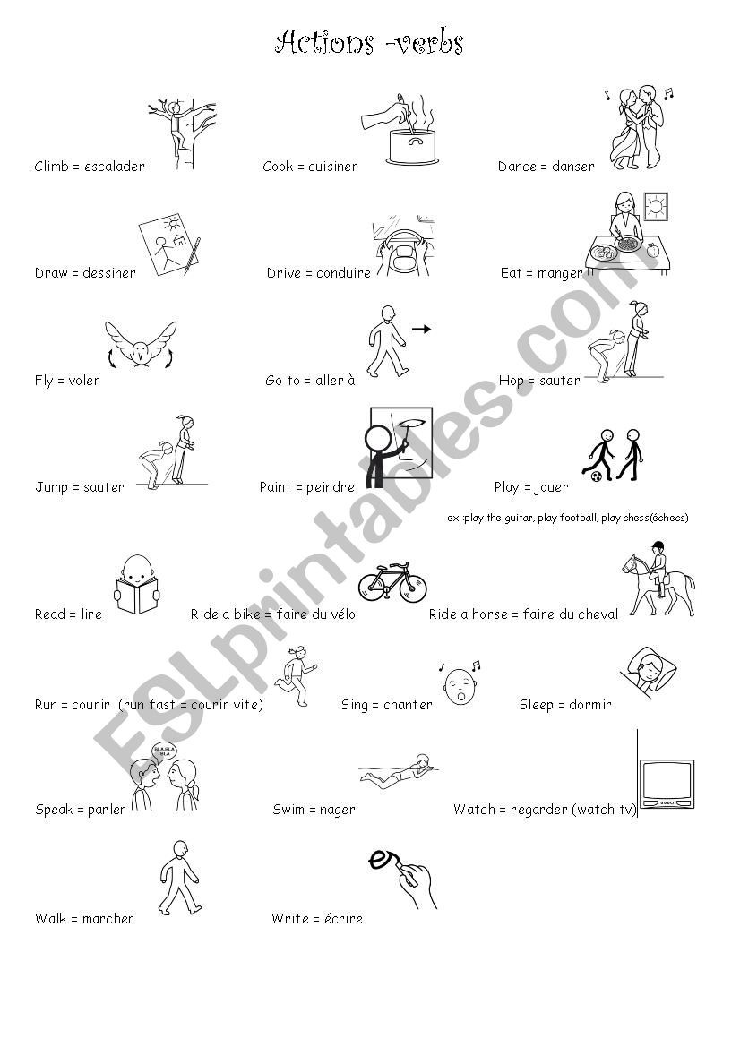 Verbs Worksheets First Grade Activities Verbs Esl Worksheet by V Ferrapie
