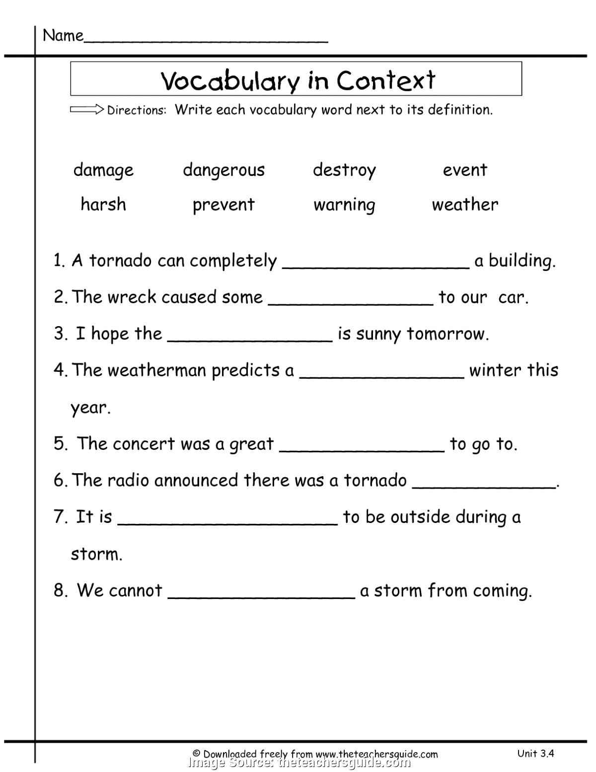 Vocabulary Worksheets for 1st Graders 1st Grade Vocabulary Newest Vocabulary Lesson Plans Grade