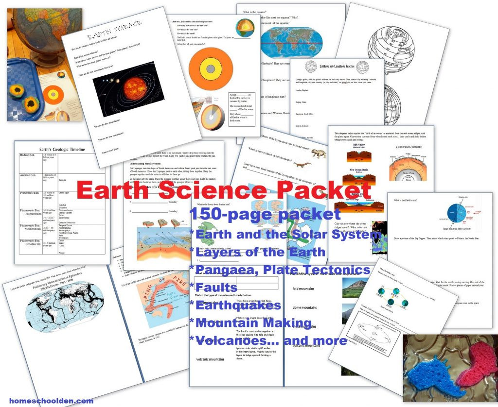 Volcano Worksheets High School Earth Science Packet Layers Of the Earth Plate Tectonics