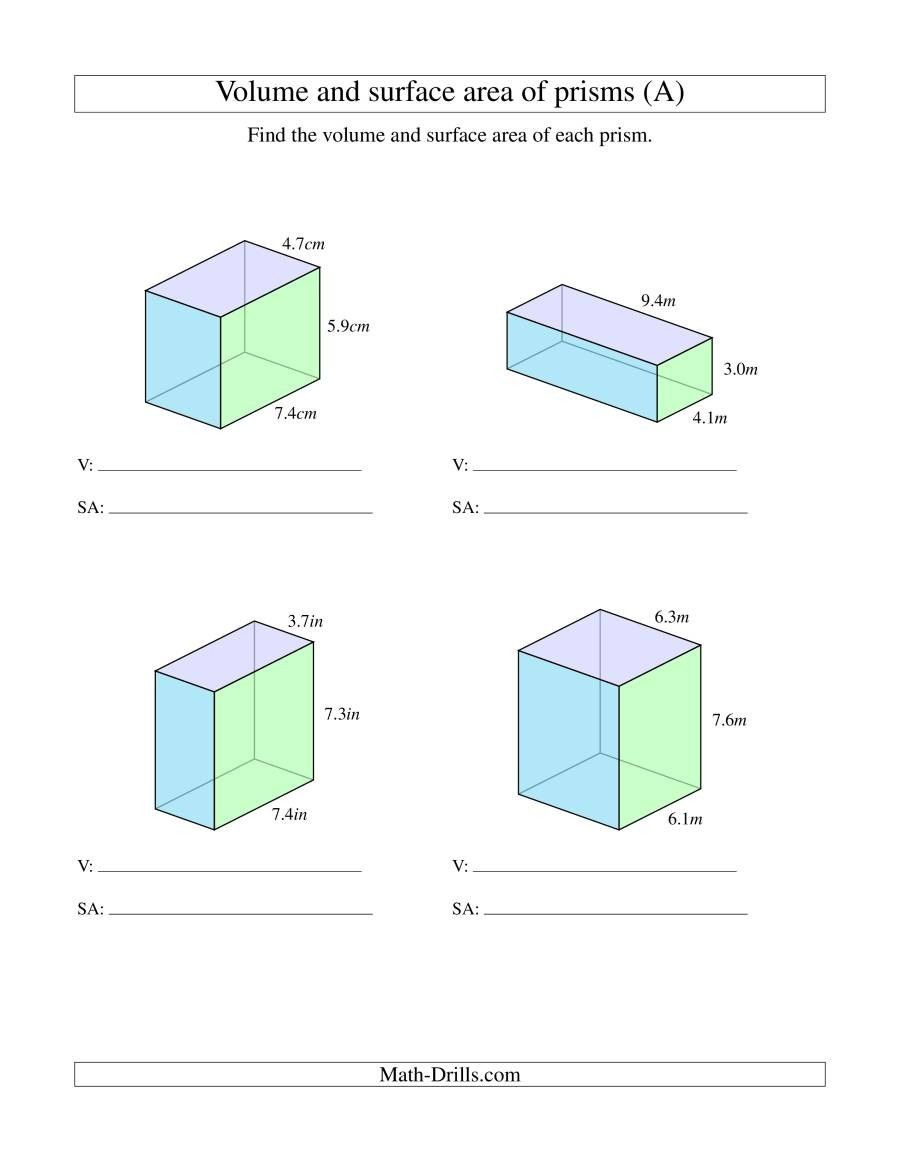 Volume Worksheet 4th Grade 4 Worksheet Free Math Worksheets Sixth Grade 6 Geometry