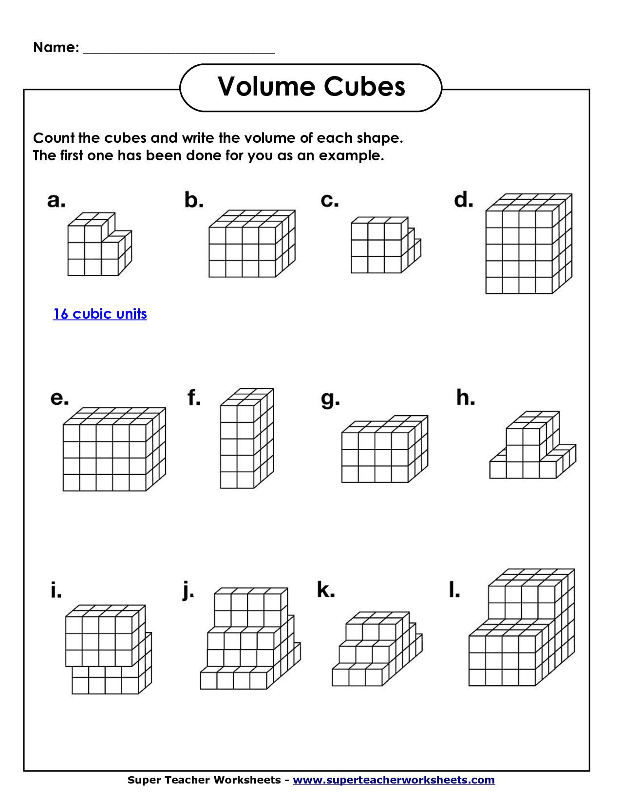 Volume Worksheet 4th Grade Image From