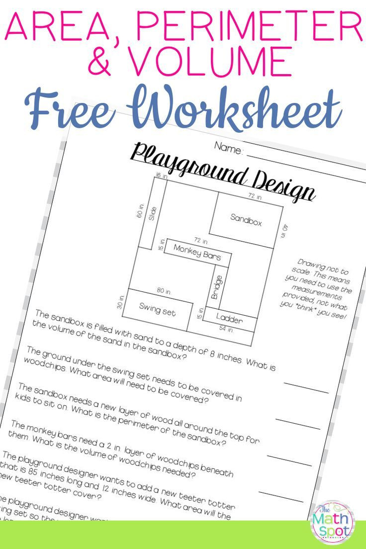 Volume Worksheet 4th Grade Volume area Perimeter Worksheet Free