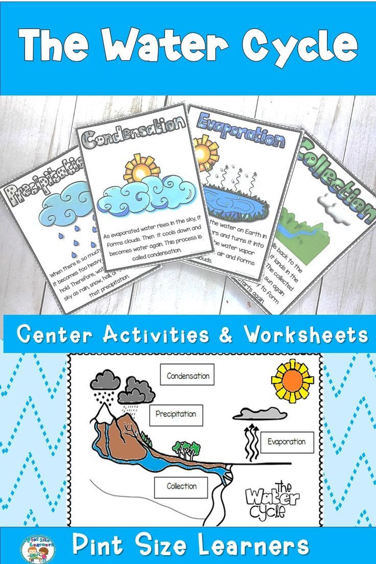 Water Cycle Worksheets 2nd Grade This Water Cycle Unit for First and Second Grade Students